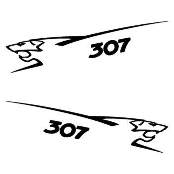 Kit stickers (2 x) Peugeot 307 Lion