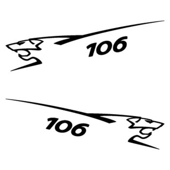 Kit stickers (2 x) Peugeot 106 Lion