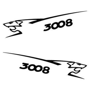 Kit stickers (2 x) Peugeot 3008 Lion
