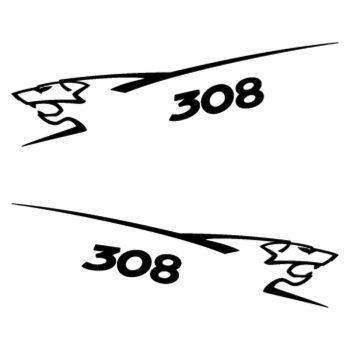 Kit stickers (2 x) Peugeot 308 Lion