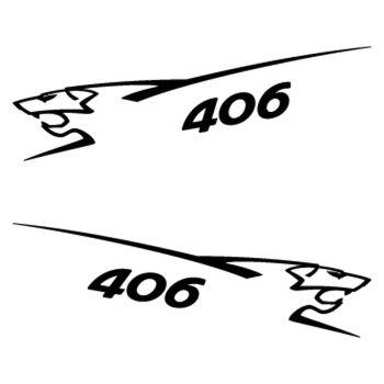 Kit stickers (2 x) Peugeot 406 Lion