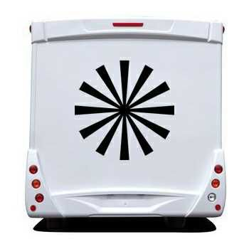Sun Rays Camping Car Decal
