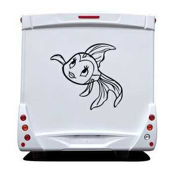 Sticker Camping Car Petit Poisson