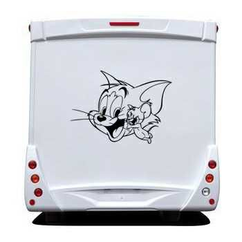 Cat and Mouse laugh friends Camping Car Decal