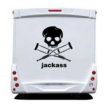 Jackass Camping Car Decal
