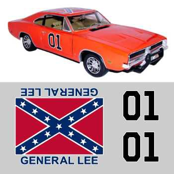 Dodge General Lee stickers set