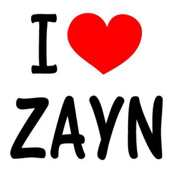 I Love ZAYN (One Direction) T-shirt