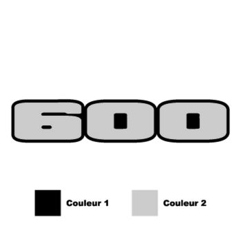 Kawasaki Ninga 600 logo motorcycle Decal ( in 2 colors)