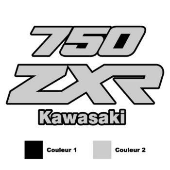 Kawasaki ZXR 750 logo motorcycle Decal ( in 2 colors)