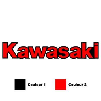 Sticker Moto Kawasaki Logo (en 2 Couleurs au choix)