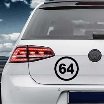 departement 64 pyrenees atlantiques Volkswagen MK Golf Decal