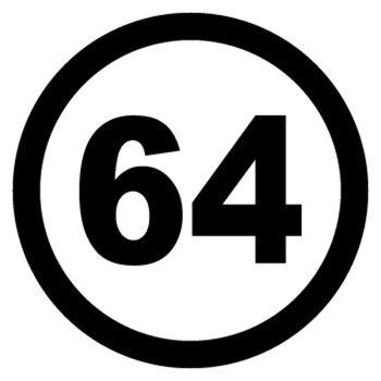 Sticker Cercle 64 du Département Français Pyrénées-Atlantiques