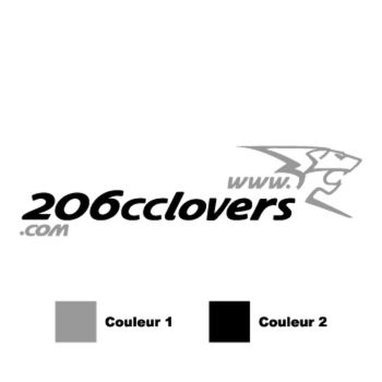 206 CC Lovers reversed logo in 2 colors Decal