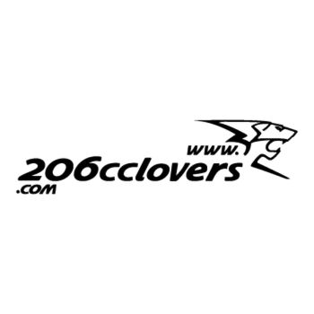 Forum 206 cc Lovers reversed Logo Decal