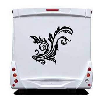 Flower Camping Car Decal 2