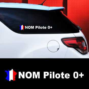 Set of 2 car Pilote France Decals