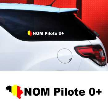 Set of 2 car Pilote Belgium Decals