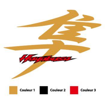Stickers Suzuki Hayabusa Kanji Logo 2013 Couleur