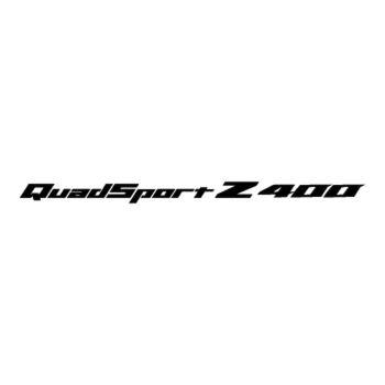 Sticker Suzuki Quadsport Z400 Logo 2012