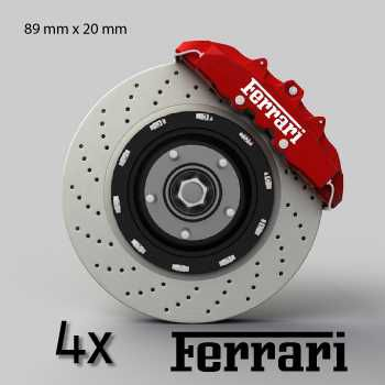 Ferrari logo brake decals set