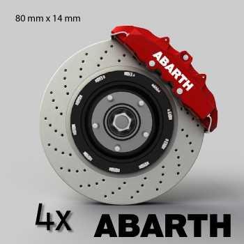 Fiat Abarth logo brake decals set