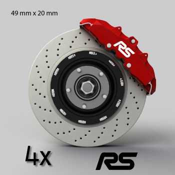 Ford RS logo brake decals set