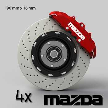 Mazda logo brake decals set