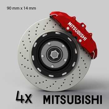 Mitsubishi logo brake decals set