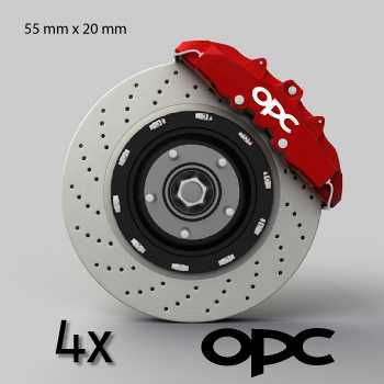 Opel OPC logo brake decals set