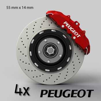 Peugeot logo brake decals set