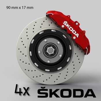 Skoda logo brake decals set