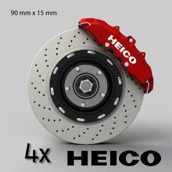 Volvo Heico logo brake decals set