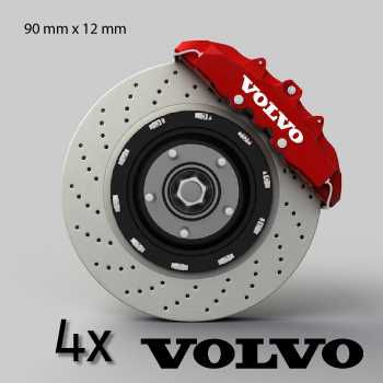 Volvo logo brake decals set