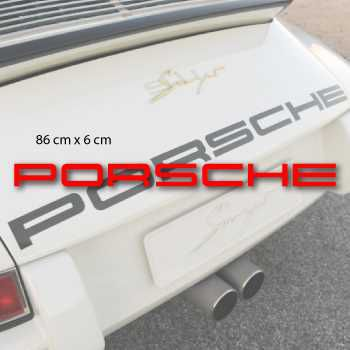 Kit Sticker Porsche Capot Moteur Logo