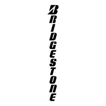 Sticker Marque Pneu Bridgestone Logo Vertical