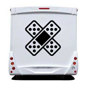 Sparadrap Plaster Cross car Camping Car Decal