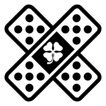 Sticker Auto Sparadrap Pansement Croix Alfa Romeo Delta Corse