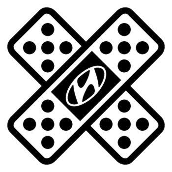 Sticker Auto Sparadrap Pansement Croix Hyundai