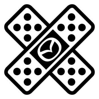 Sticker Auto Sparadrap Pansement Croix Mazda