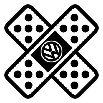 Sticker auto Pflaster Verband Kreuz VW Volkswagen