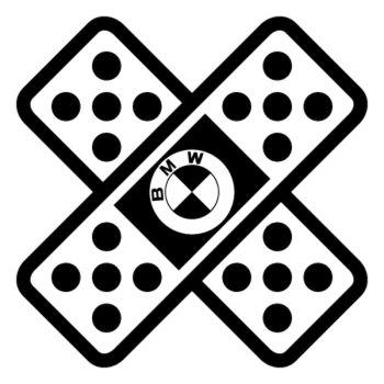Sticker Auto Sparadrap Pansement Croix BMW