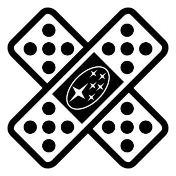 Sticker Auto Sparadrap Pansement Croix Subaru