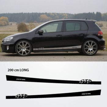 Kit Stickers Bandes Bas de Caisse VW Golf 6 VI GTD MTM