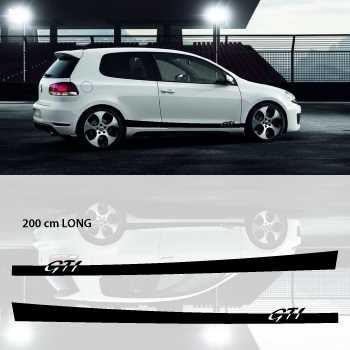 Kit Stickers Bande Seitenleiste VW Golf 6 VI GTI