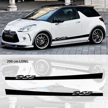 Kit Stickers Bandes Bas de Caisse Voiture Citroen DS3