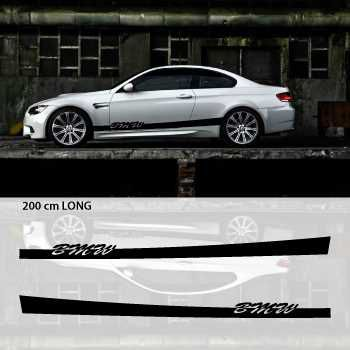 BMW car side stripes decals set