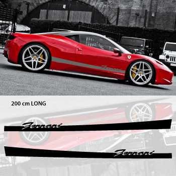 Kit Stickers Bande Seitenleiste Auto Ferrari