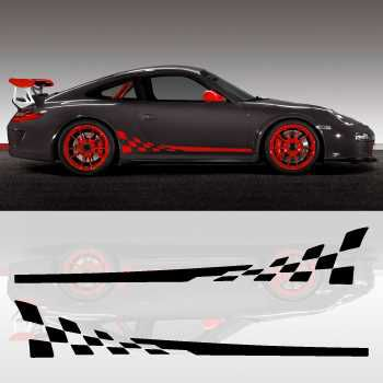 Kit Stickers Bandes Bas de Caisse Voiture Porsche 911 GT3 RS