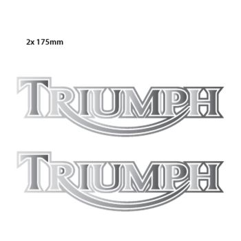 Triumph Classic Logo Chrome Decals - Set of 2 Decals