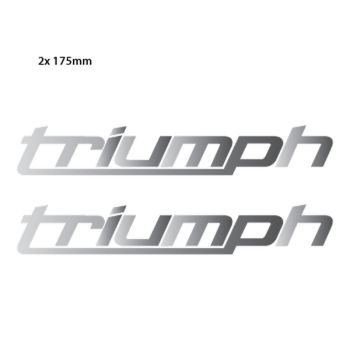 Triumph New Logo Chrome Decals - Set of 2 Decals